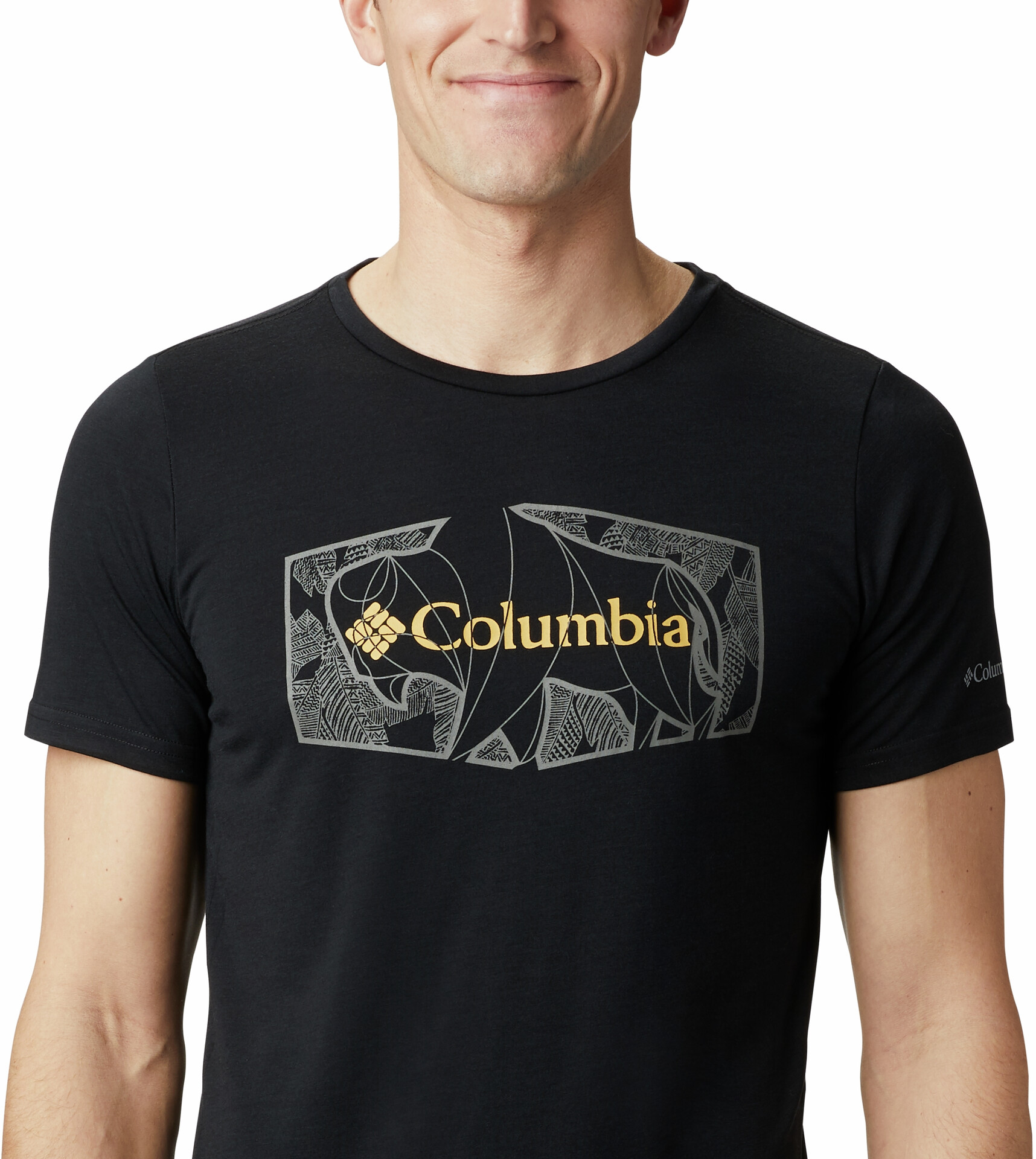 Columbia Terra Vale II Maglietta a maniche corte Uomo, black roam hex su Addnature Ui0lD